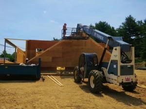 Setting the last gable