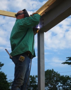 Adding bearing clips for entry beams