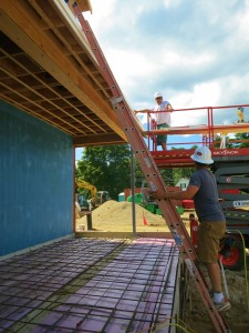 Soffits Begin for Roof-Ready