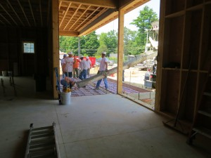 Entry Porch Slab Placement